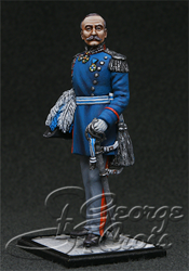 HQ PAINTED MINIATURE  The Greek War of Independence 1821-29.  +Kostas (Constantine) Botsaris, Greek General, Markos' brother