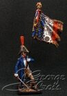 Napoleon's France.  +Line Infantry 1813.  Su-lieutenant with the Regimental Eagle. KIT