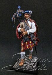 Scottish Clans and Jacobite Rebels 17-18 cc.  Bagpiper. KIT