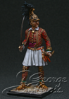 "HQ PAINTED MINIATURE  Britain in Napoleonic Wars.  Field Officer of 2nd Greek Light Infantry Rgt. (""The Duke of York's""), 1815"