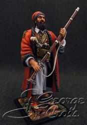 The Greek War of Independence 1821-29.  Papaflessas During the Battle of Maniaki. KIT