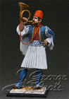 Greece, Army of King Otton. Light Infantry Battalion's Bugler, 1838. KIT