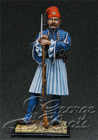 HQ PAINTED MINIATURE  Greece, Army of King Otton. Mani Light Infantry Battalion, Private, 1838
