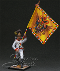 Austria-Hungary. Line Infantry. German Regiments, Grenadier Company 1805-14. Battalionl Banner. KIT