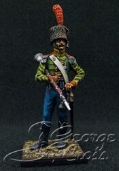 Napoleon's France.  +Light Infantry 1814.  Regimental Orchestra. Drum-major. KIT