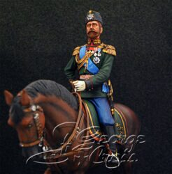 Emperor Nicholas II in the Uniform of the Colonel of the First Battery of Guards Horse Artillery, 1895. KIT. 90 mm