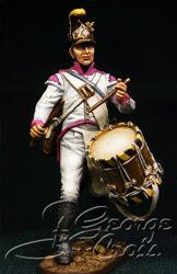 Austria-Hungary. Line Infantry. German Regiments, Fusilier Company 1805-14. Drummer. KIT