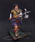 Scottish Clans and Jacobite Rebels 17-18 cc. Clansman with Lochaber Axe. KIT