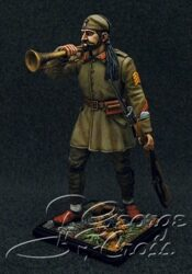 HQ PAINTED MINIATURE  Balkan and Greco-Turkish Wars. Hellenic Army. Evzone Battalion. Sergeant Trumpeter, 1922